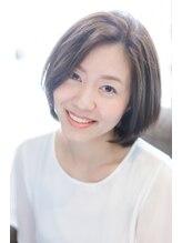 エイジングケア専門店 ジン 美容室(JIN)48歳、艶々、根本ふんわりボブ★白髪染め&髪質改善