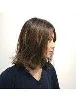 ヘアーリゾートラシックアールプラス(hair resort lachiq R+)《R+》バレイヤージュ☆ミディアム外はね