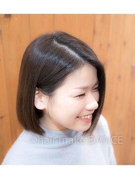 ヘアーメイク ダンス(hair make DANCE)☆バレイアージュグレージュ☆切りっぱなしボブ