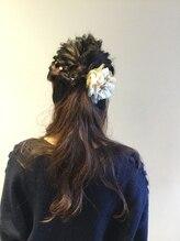 ヘア アンド フェイス トコ(Hair&Face toco)結婚式二次会にオススメ★ハーフアップアレンジ