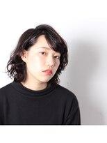 サロン ヴィ(Salon V)SalonV 黒髪マッシュウルフ ウェットテクスチャー
