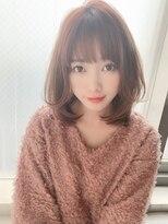 ひし形ボブ(ネイビーカラー美髮フレンチボブ