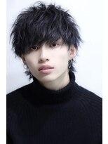 リップス 渋谷(LIPPS)透け感カラー×ラフウルフ ラフファングショート