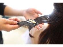 CMCという髪の脂分を補給します。。。