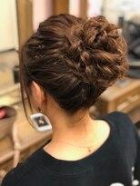 ヘアセットサロン アトリエ チャイ(Hair set salon atelier CHAI)ねじねじおだんごアップ
