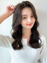 ラルユー(LallYou)フェザーバング/カーキグレージュ/大人かわいい/前髪/小顔