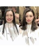 シェルハ(XELHA)☆仲道のIGTV☆リアルお客様【before→after】暗髪かきあげ前髪