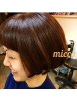 ミッカ(micca)【micca下北沢】可愛いオレンジカラー☆前下がりショートボブ☆