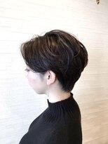 ティルヘアー(TiLL HAIR)【TiLL HAIR】耳かけハンサムショート 暗髪 大人小顔ショート