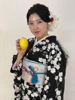 ハナココ 水戸店(hana Coco)成人式前撮り 着付けヘアメイクゆるふわアップ髪飾り販売中 水戸