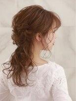 オーブ ヘアー ライカ 福島2号店(AUBE HAIR raika)【AUBE HAIR】お呼ばれヘア_王道カワイイハーフアップ
