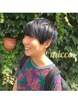 ミッカ(micca)【micca下北沢】刈り上げボーイッシュショート☆ブルーカラー