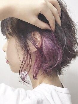 """ヘアセラヴィ 雨ヶ谷(hair C'est La Vie)の写真/圧倒的なカラー技術で""""なりたいを""""叶えてくれる♪ハイトーン/グラデーション/インナーなど、高発色×艶髪☆"""