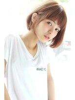 【Un ami】スタイリング簡単 小顔 メルトカラー ボブ(増永)