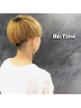 ヘア ストア リタイム(hair store Re-Time)金髪 たな刈り上げ