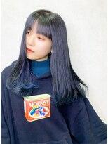 リリー(Lilley)【lilley 高田彩乃】ダークネイビーの透明感裾カラー(天神/今泉)