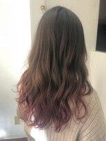 ヘアーアンドメイク ポッシュ 新宿店(HAIR&MAKE POSH)紫ピンクグラデーション