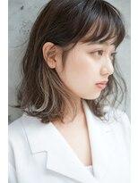 【SHUN】外国人風/インナーカラー/プラチナグレージュ