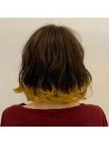 ネオヘアー 曳舟店(NEO Hair)ショートボブ×裾イエロー(曳舟)