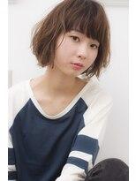 """バジル(BASIL)BAS""""IL☆「ラフパーマ」×「デザインカラー」×「ネイビー」"""