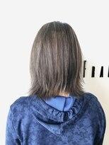 フレイムスヘアデザイン(FRAMES hair design)外ハネレイヤー×ミルクティーベージュ