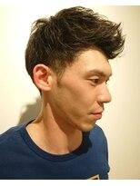ヘアーリゾートラシックアールプラス(hair resort lachiq R+)《R+》メンズカット☆アップバングショート