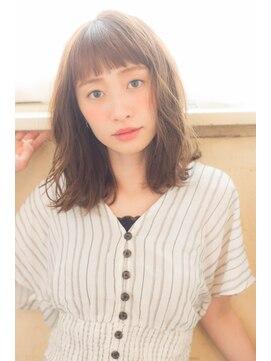 アドラーブル 万代店 (adorable)ニュアンスカール×ロブ【イルミナカラー/髪質改善】