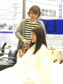 ヘアーメイクチャム(hair&make CHUM)の写真/キャリアを積んだスタイリストが担当!ハイキャリアならではの技術でワンランク上のスタイルが叶う★