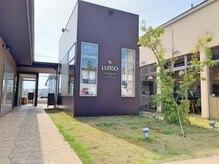 ルッソ(LUSSO)の雰囲気(陽が差し込む店内と、サロンとカフェが併設された店舗)