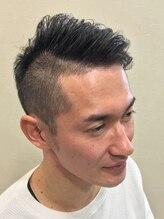 バーバーリンクヘアー(Bar Ber Link Hair)アシメ2ブロック