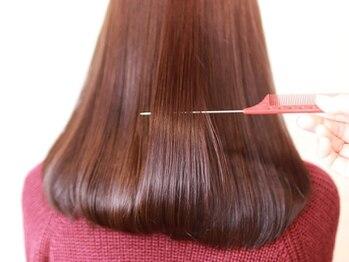 ミック ヘアーアンドメイクアップ 西新井店(miq)の写真/お客様に合わせた提案と施術◎素髪を活かした髪質ケアトリートメントで髪本来の美しさに。[miq西新井]