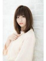 ルーチェ 府中(Luce)ストレートツヤ小顔クラシカル厚めバングベージュミディアム☆