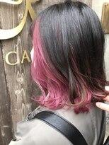 ユーアールキャッスル(UR CASTLE)ピンクのインナーカラーでラブリー