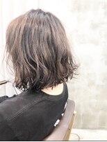 エトネ ヘアーサロン 仙台駅前(eTONe hair salon)20代30代40代オススメ癖毛風の前下がりボブ