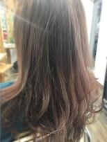 モノトーンピンク~明るい白髪【グレー】カラー