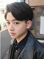 フィフス(fifth)アップバング/カジュアル七三/ツーブロック/黒髪/かき上げヘア○