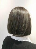 フレイムスヘアデザイン(FRAMES hair design)カーキグレージュ×ハイライト×ナチュラルボブ