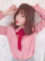 ミューズ 原店(MU-SE)ピンクカラー×シースルーバング