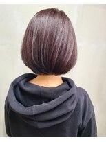 ソース ヘア アトリエ(Source hair atelier)【SOURCE】ワインレッドボブ