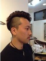ヘア ルシェ(hair ruscha)【ヘアルシェ】おすすめ♪ツーブロアシメワイルドパーマ♪