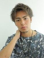 アルバム シンジュク(ALBUM SHINJUKU)マッシュウルフ七三オールバックツイストパーマ_3391