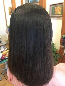 美容室セ ランコントレの写真/マイナスイオンの力で本来の髪の美しさを実感!!電子トリートメント!!自然なツヤ・ハリ・弾力を実感できる☆