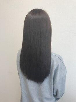 クラージュ(courage)の写真/《髪質改善×縮毛矯正》思わず触れたくなるツヤ髪とさらさらの手触りが手に入るのでリピーターが絶えない☆
