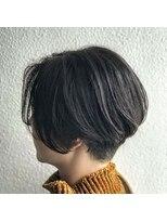 ディシェル(D'ciel)【D'cielオナギ】刈り上げショートX暗髪グレージュ