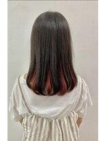 ソース ヘア アトリエ 京橋(Source hair atelier)【SOURCE】インナーカラーヴィヴィットレッド