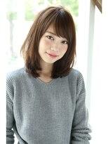 【Un ami】小顔ワンサイド・フリンジバング ミディー 松井