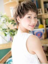 *+COVER HAIR+*…斜めバングの女らしさショートa