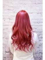 フオラヘアー 中板橋店(Fuola HAIR)ダブルカラーでピンクレッド