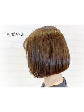 ビス ヘア アンド ビューティー 西新井店(Vis Hair&Beauty)ボブ/ミニボブ/艶感/グレージュ/大人かわいい/小顔/美肌/立体感