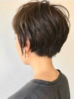 キローネ(Kirowne)の写真/まだまだ人気の止まらないショートヘア!【カット¥4400】メンズライクなスタイルに女性らしさを加えて♪